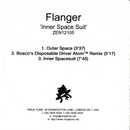 FLANGER Inner Spacesuit EP promotional CD-R